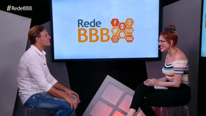 Após sua eliminação, Diego conversa com Ana Clara Imagem: Reprodução/GloboPlay
