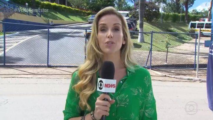Mariana Ferrão em Brumadinho (Foto: Reprodução)
