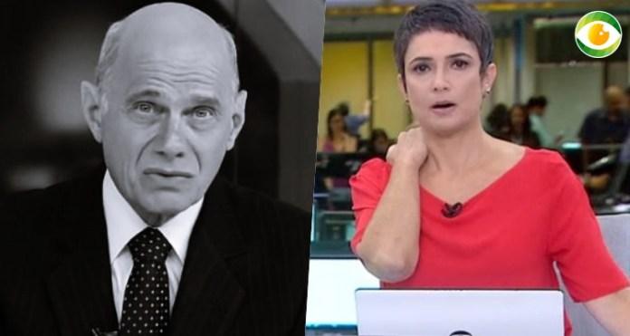 Jornalista fica abalada com morte do colega (Foto: Montagem/Globo