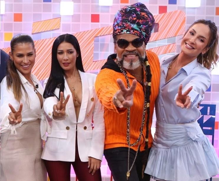 Simone e Simaria, Carlinhos Brown e Claudia Leitte no The Voice Kids (Foto: Isabella Pinheiro/Gshow)