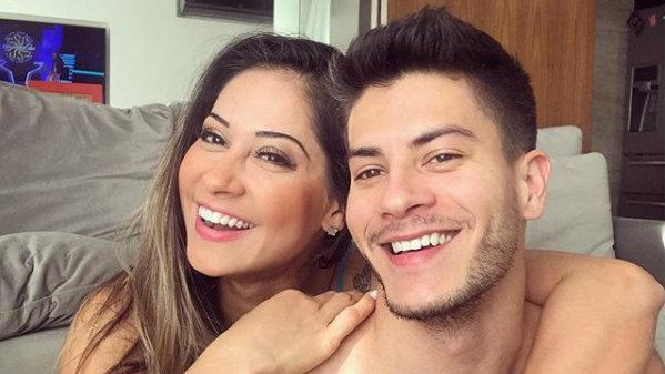 Arthur Aguiar e Mayra Cardi (Foto: Reprodução)