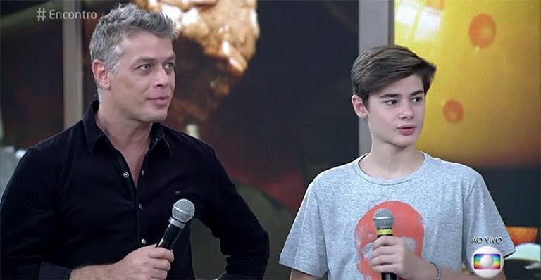 Fábio Assunção e o filho, João (Foto: Divulgação)