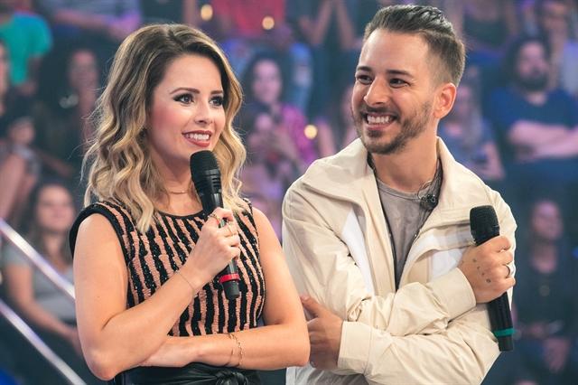 Sandy e Junior estiveram no palco do Caldeirão do Huck e bombaram em audiência (Foto: Globo/Raquel Cunha)