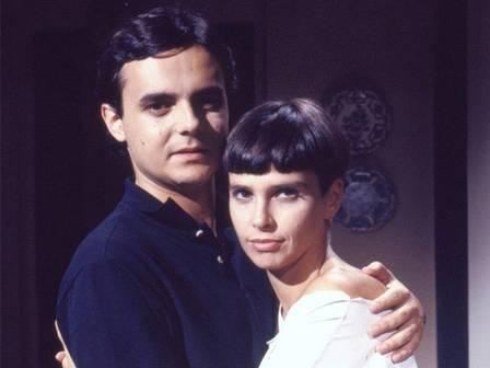 """Lídia Brondi e Cassio Gabus Mendes na novela """"Meu bem meu mal"""", em 1990 Foto: Arquivo/TV Globo"""