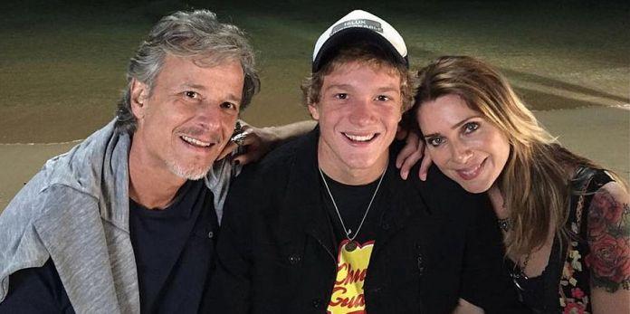 Letícia Spiller, Marcelo Novaes e o filho Pedro Novaes. (Foto: Reprodução/Instagram)