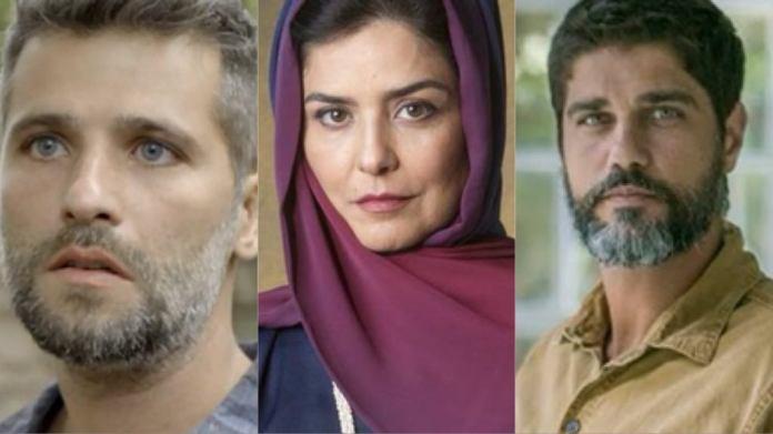 Gabriel de O Sétimo Guardião, Soraia e Hussein de Órfãos da Terra (Foto: Montagem <a href=