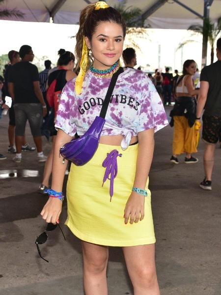 Maisa Silva se recusou a falar com jornalistas durante o Lollapalooza