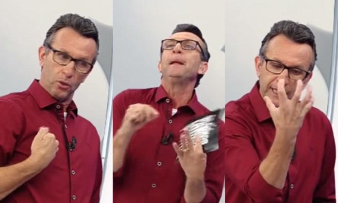 O apresentador soltou o verbo ao vivo. (Foto: Reprodução/Montagem)