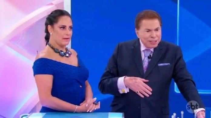 Silvio Santos e Silvia Abravanel (Foto: Reprodução)