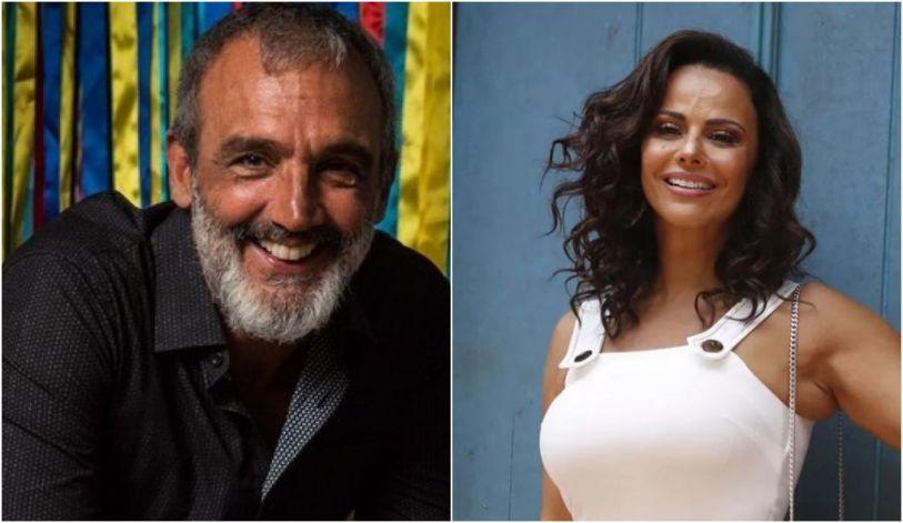 O diretor Papinha estaria conhecendo Viviane Araújo (Foto: Montagem)