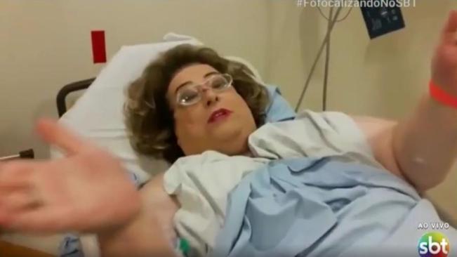 Mamma Bruschetta sofre de uma infecção em suas partes íntimas (Imagem; Reprodução/SBT)