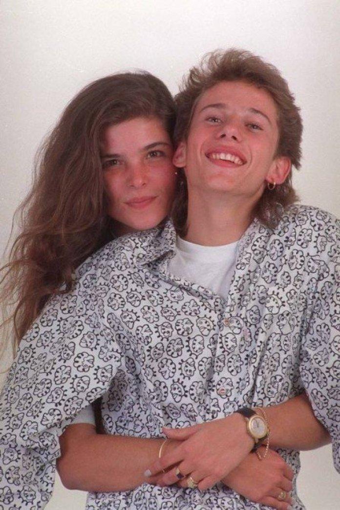 Rafael Ilha e Cristiana de Oliveira na época em que namoravam (Foto: Reprodução)