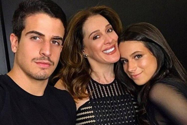 Claudia Raia, Enzo e Sophia (Foto: Divulgação)