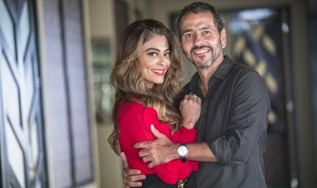 Maria da Paz (Juliana Paes) e Amadeu (Marcos Palmeira) em A Dona do Pedaço (Foto: Globo/João Miguel Júnior)