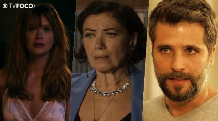 Lilia Cabral (Valentina), Marina ruy Barbosa, Bruno Gagliasso estão no ar na novela das nove da Globo O Sétimo Guardião