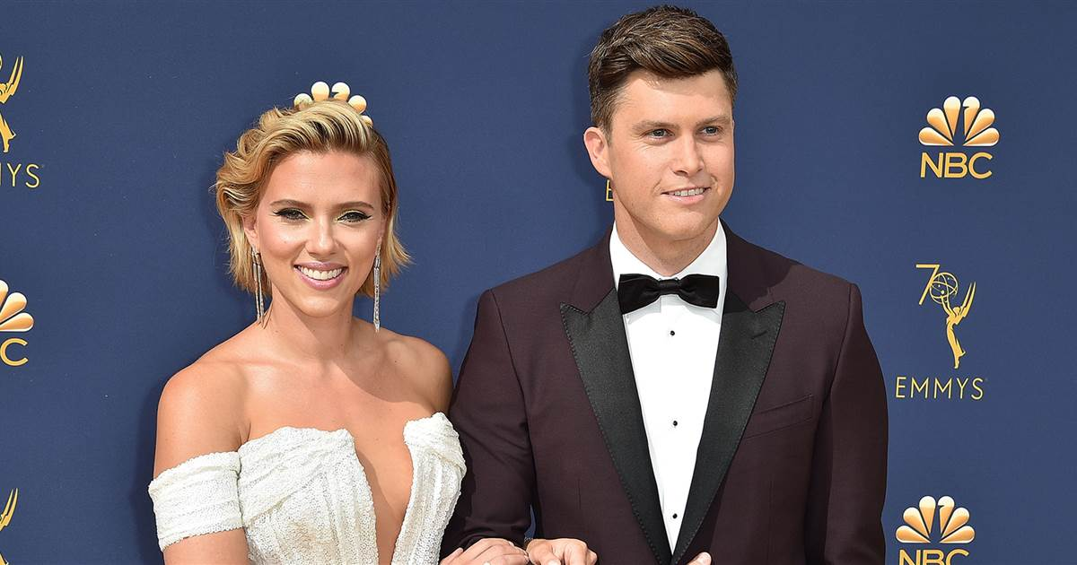 Scarlett Johansson e Colin Jost (Foto: Reprodução)