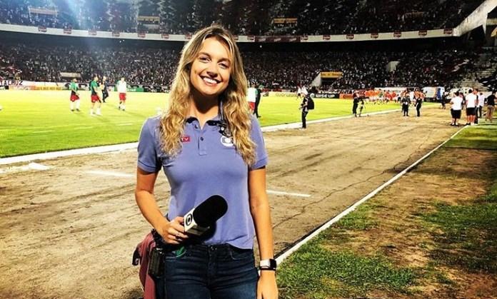 A repórter Ana Helena Goebel foi afastada pela Globo (Foto: Reprodução)