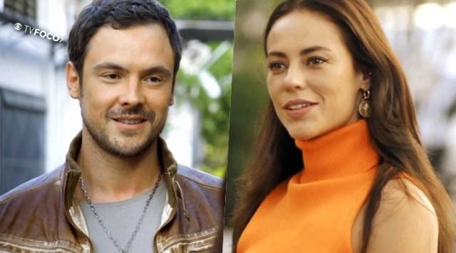 Chiclete (Sergio Guizé) e Vivi (Paolla Oliveira) foram novo casal em A Dona do Pedaço da Globo