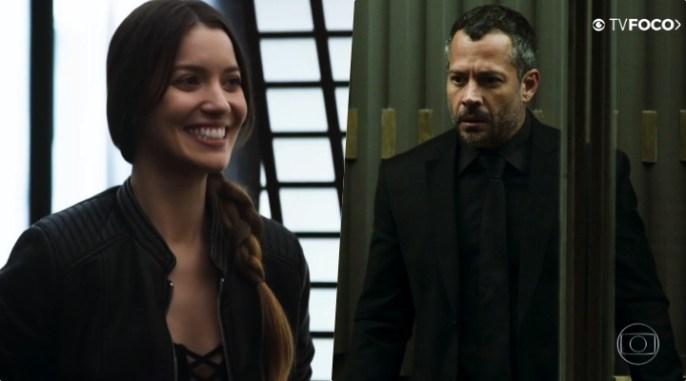 Fabiana (Nathalia Dill) quer ter Agno (Malvino Salvador) em suas mãos na novela da Globo A Dona do Pedaço