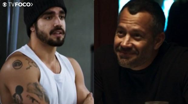 Rock (Caio Castro) será seduzido por Agno (Malvino Salvador) em A Dona do Pedaço (Foto: Reprodução/Globo