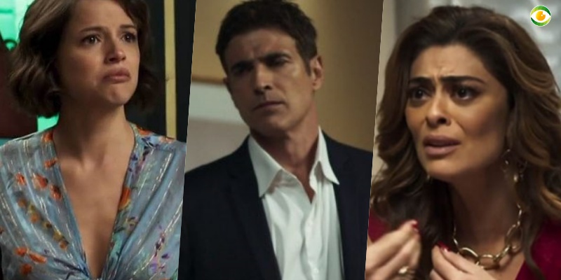 Régis ficará em maus lençóis em A Dona do Pedaço da Globo após ser flagrado por Maria da Paz (Foto: Montagem/TV Foco)