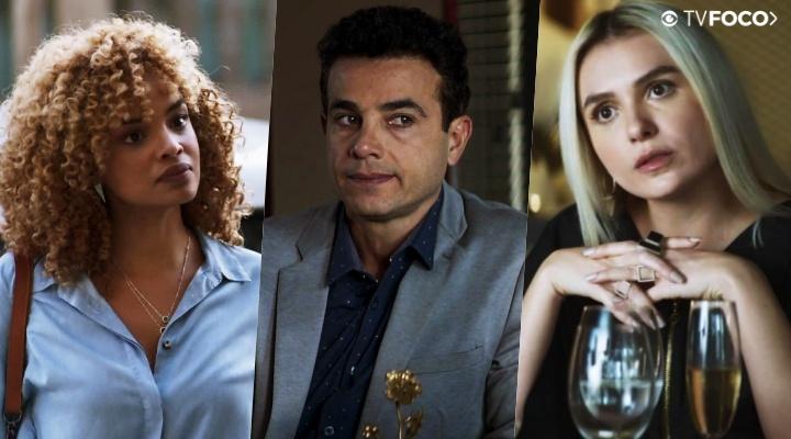 Marcio está enrolado com Kim e Silvia em A Dona do Pedaço da Globo