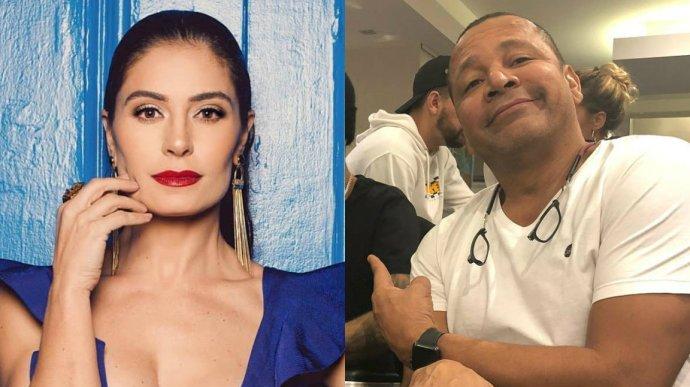 O pai de Neymar e a atriz da Globo Franciely Freduzeski terminaram o relacionamento (Reprodução)