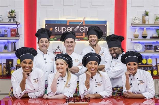 Os participantes do SuperChef Celebridades 2019 (Foto: Globo/Paulo Belote)