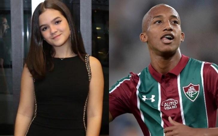 A atriz de A Dona do Pedaço da Globo, Mel Maia e o jogador de futebol do Fluminense, João Pedro (Foto: Montagem TV Foco)