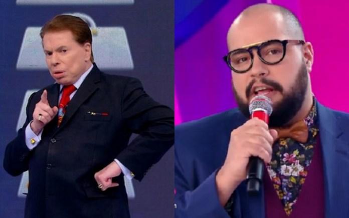 O apresentador e dono do SBT, Silvio Santos e o seu neto e ex-contratado da Globo, Tiago Abravanel deram o que falar (Foto: Montagem <a href=