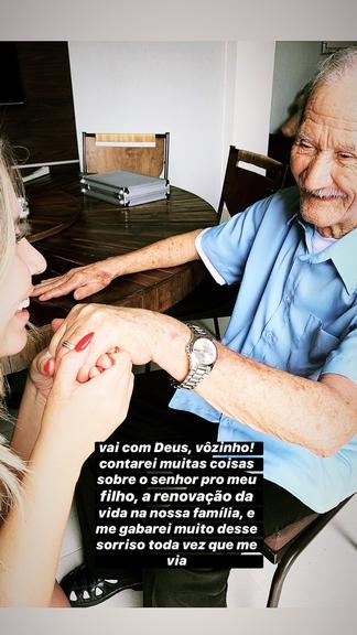 Marilia Mendonça compartilhou com seus seguidores a saudade que sente de seu avô e revelou que vai falar muito dele para seu filho. Foto: Reprodução