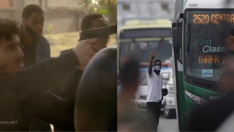 Record exibe cena de sequestro de Van Escolar um dia depois de sequestro real de ônibus no Rio de janeiro que terminou em morte (Montagem: TV Foco)