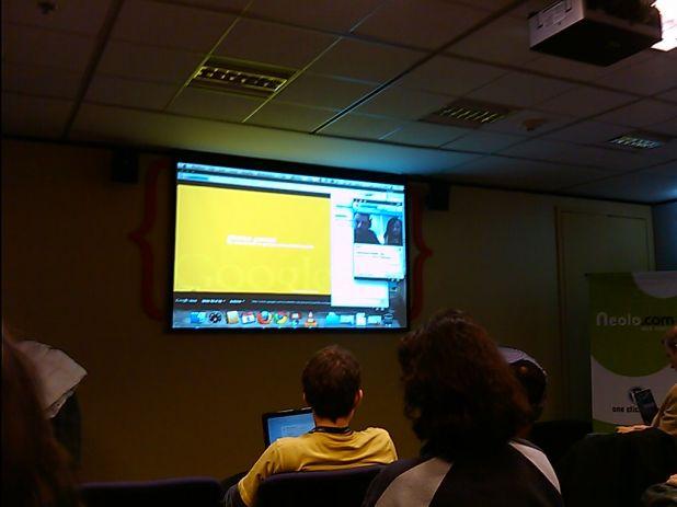 Google por video conferencia en el wordcamp