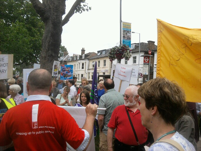 Library Campaigners at Surrey County Hall