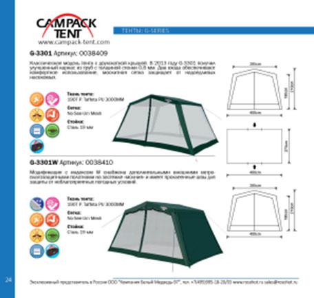 """Тент Campack Tent """"G-3301W"""" с ветро-влагозащитными полотнами"""