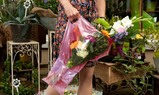 Sacosa pentru transportat flori