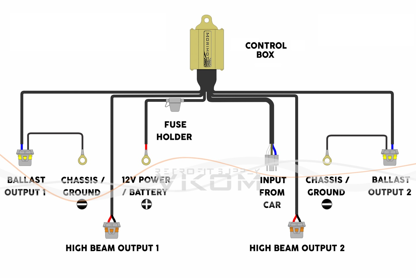 h4 bi xenon wiring diagram images