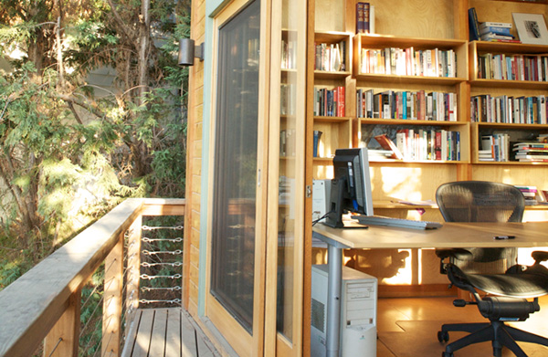 Office in the woods
