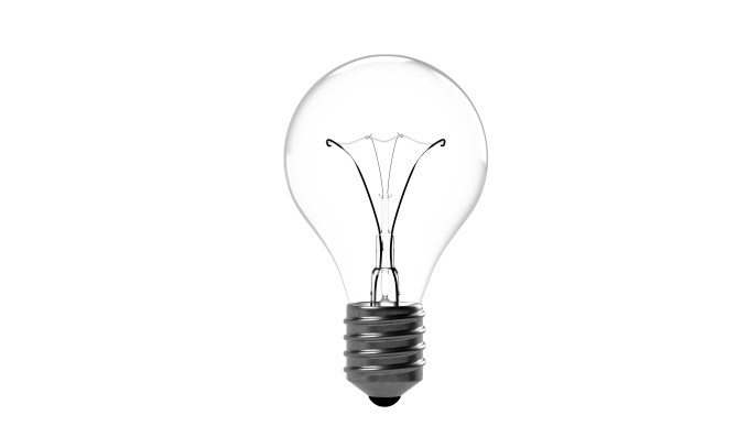 light bulb, incandescent bulb