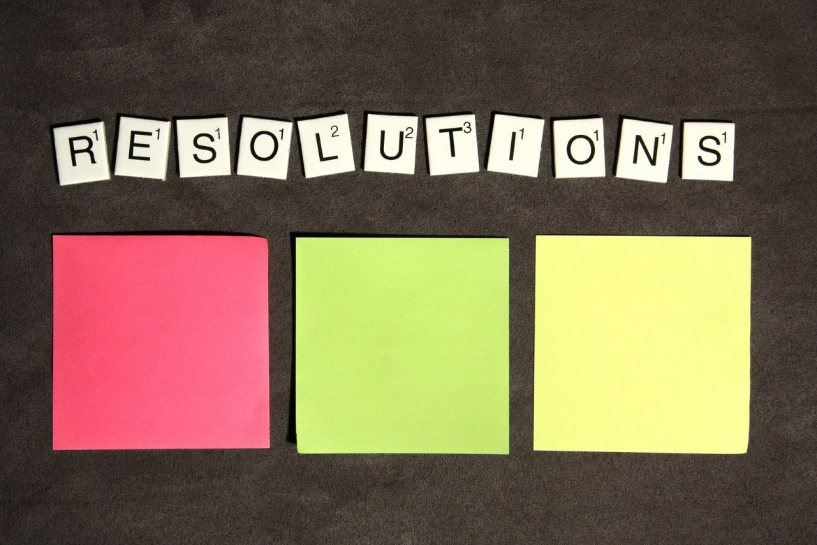 Around this time of year, many good-hearted people set resolutions for the next 12 months to achieve.