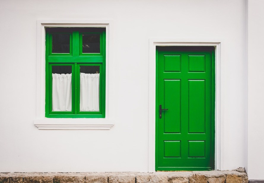 house, door, window