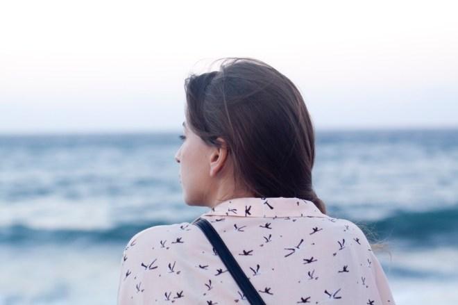 sea, person, woman