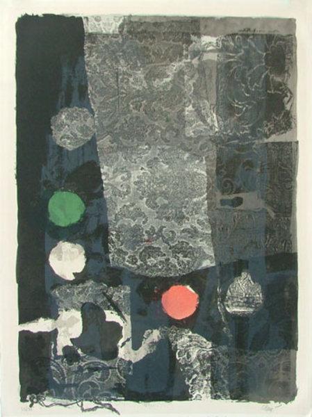 Abstract Prints Linocut