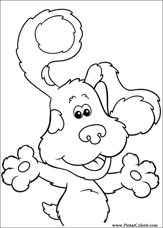 Blues Clues Magenta Coloring Pages