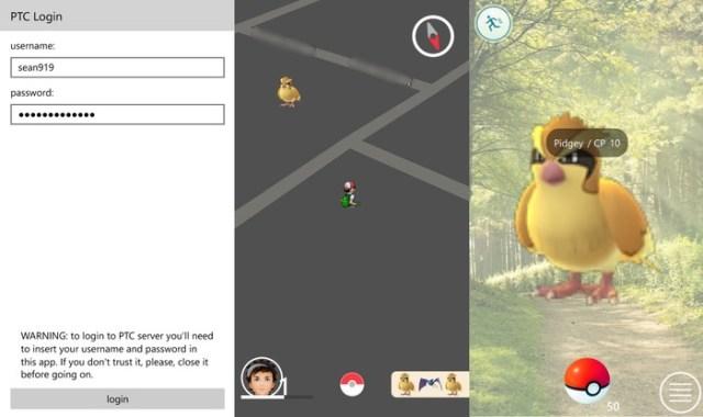 PoGo-UWP pokemon go windows 10(diez) mobile