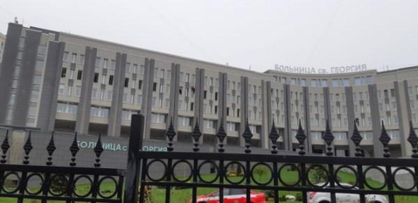 Фото: Больница Святого Георгия в Петербурге после пожара