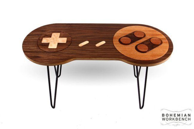 Dincroyables Tables En Forme De Manettes NES Et Super