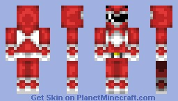 Red Power Ranger Minecraft Skin