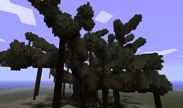 Massive Banyan Tree Schematic File Added Minecraft Project