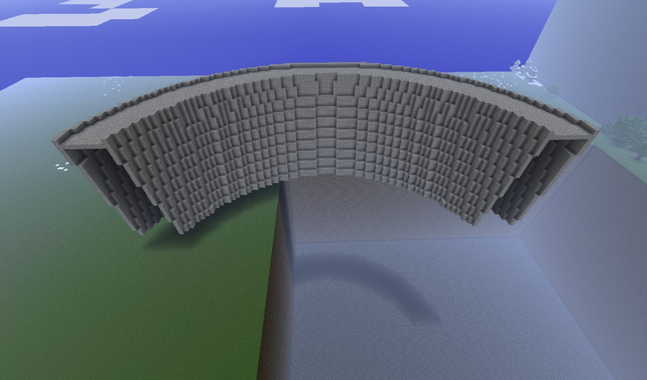 Hoover Dam Schematic Minecraft Project
